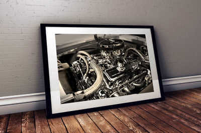 """ford shelby cobra hot rod muscle car Poster 24/""""x36/"""" HD"""