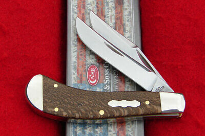 Case XX USA - Smooth Brown Sycamore Wood Saddlehorn Knife - 27265 Tony Bose