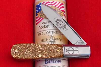 Great Eastern Tidioute #15 Glitter Gold Acrylic TC Barlow Knife 152121 GEC USA