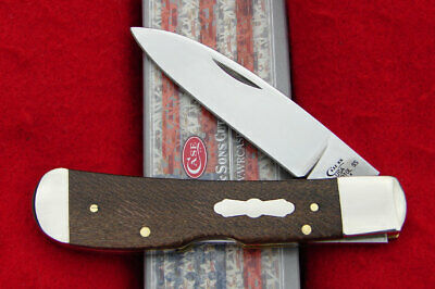 Case XX USA - Smooth Brown Sycamore Wood Tribal Lock Knife - 27266 Tony Bose