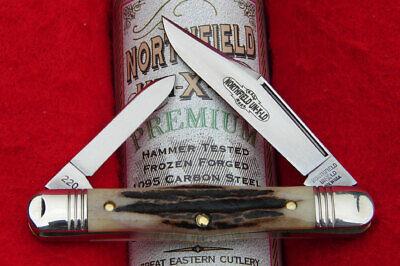 Great Eastern Northfield #33 Sambar Stag Conductor Half Whittler Knife USA NICE!