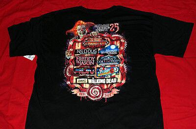 UNIVERSAL HALLOWEEN HORROR NIGHTS 25 2015 25th ANNIVERSARY House-Maze XL T-SHIRT - Halloween Horror Nights Mazes