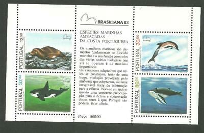 Portugal 1983 - Endangered Sea Animals S/S MNH
