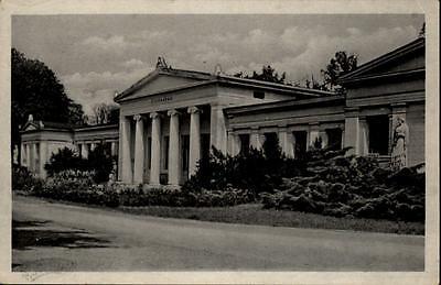 Schönebeck Salzelmen alte DDR Ansichtskarte 1956 gelaufen Partie am Lindenbad