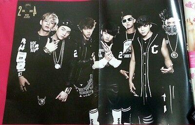 RARE_ Bromide BTS BAP INFINITE 2PM : Magazine+Poster: BTS&BAP 2013 Aug no.88 New