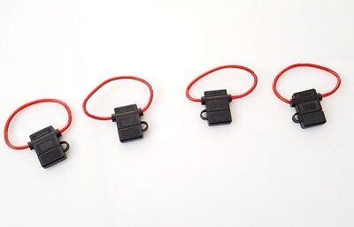 4x PKW KFZ-Sicherungshalter Flachsicherung Halter Sicherung