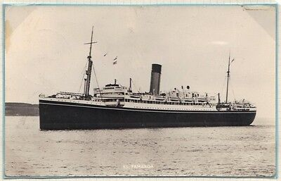 UK GB CURACAO 1950's 4 STEAMSHIP P.C.'s POSTED ON SHAW SAVILL & ALBION STEAMSHIP