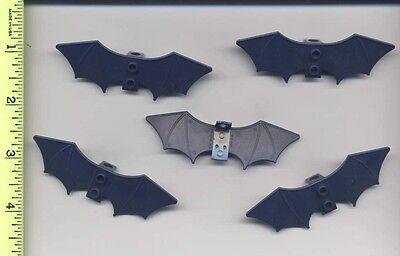 Lego X 5 Dark Blue Minifig, Wings Batman 6858 Batwings