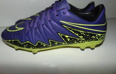 ae850ce00ed2 Nike Hypervenom Indoor Soccer Cleats Shoes Size10 Mens Purple/Green