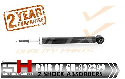 2 NEW REAR  SHOCK ABSORBERS FOR NISSAN TIIDA 092007 ALL MODELS  GH 332299