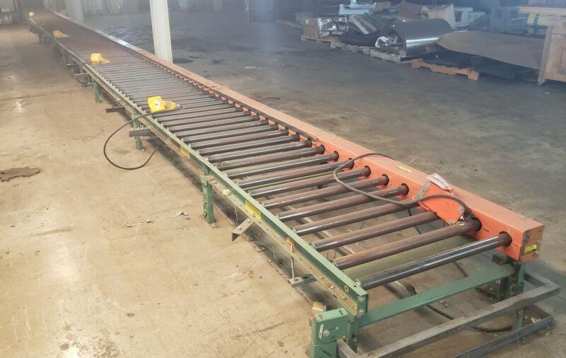 Roach Mfg Powered Rolling Conveyor 45.5