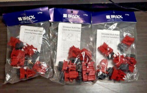 (3) NEW Brady Universal Multi-Pole Breaker 3 packs of 6 66320 18 total Free Ship