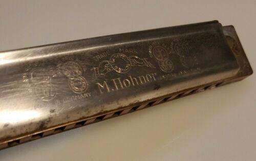 M. HOHNER HARMONICA MADE IN GERMANY IGESETZL GESCH TRADE MARK MARINE BAND 1893