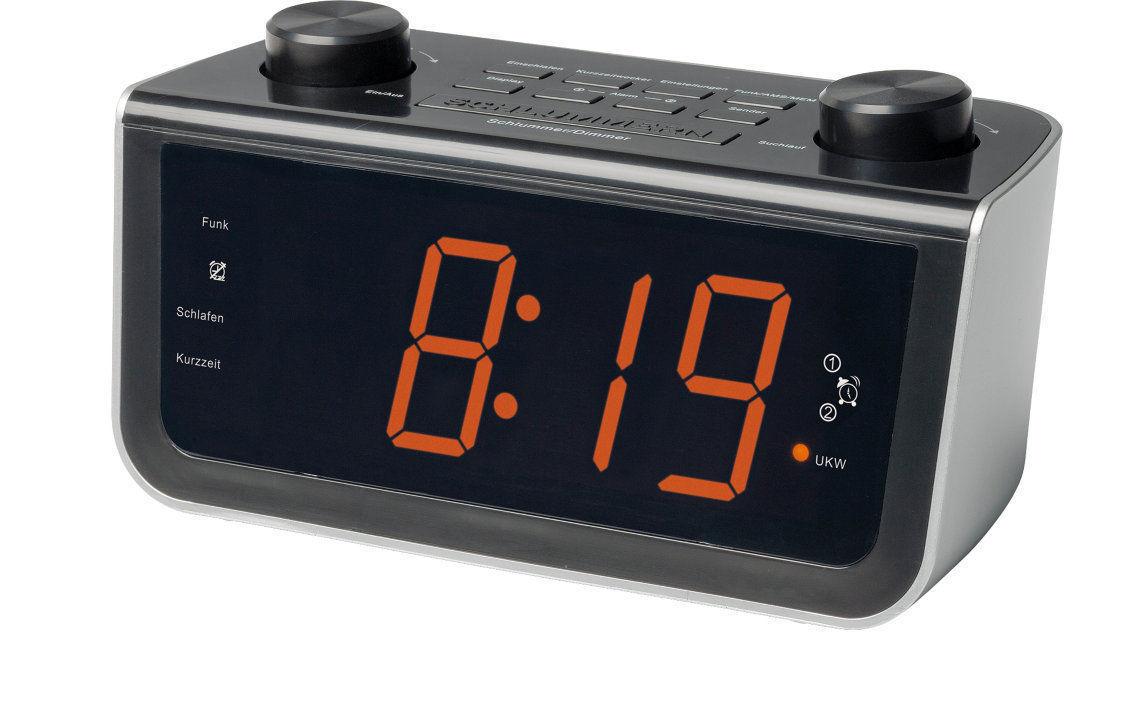 MEDION LIFE MD 84463 funkgesteuertes Uhrenradio digital schwarz PLL UKW Wecker