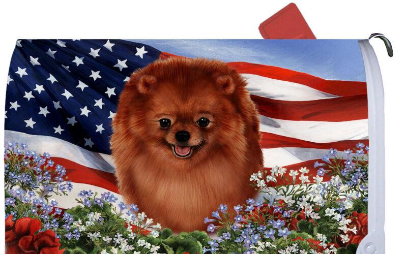 Magnetic Mailbox Wrap (Patriotic) - Pomeranian 09013