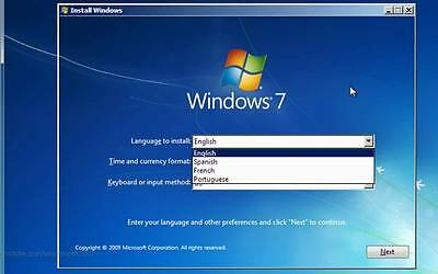 Windows 7 (SP1) 32 & 64 bit Reinstall Install DVD Disc All Version Fast Shipping