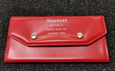 Starrett S167b Radius Gage Case
