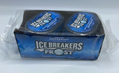 ICE BREAKERS Frost Sugar Free Mints, Peppermint 1.2 Ounce 6 Tins Sealed Package