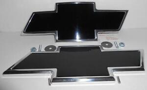 2007-2013 CHEVROLET TAHOE-SURBURBAN  BLACK & POLISHED BOWTIE EMBLEM KIT
