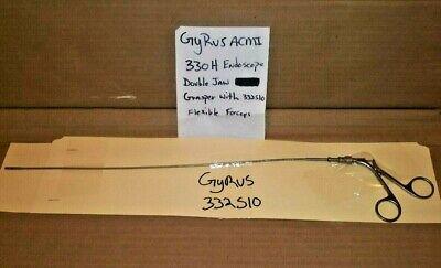 Gyrus Acmi 330h Endoscope Double Jaw Flexible Forceps 332s10