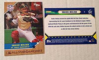 2017 Topps Series 2 #373 Yadier Molina St Louis Cardinals Baseball Card