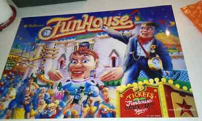 FUN HOUSE WILLIAMS ORIGINAL Pinball Machine Translite