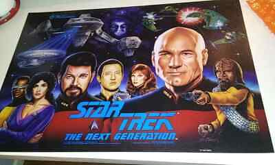 STAR TREK NEXT GENERATION  WILLIAMS ORIGINAL Pinball Machine Translite
