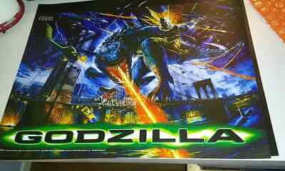 GODZILLA SEGA ORIGINAL Pinball Machine Translite NEW