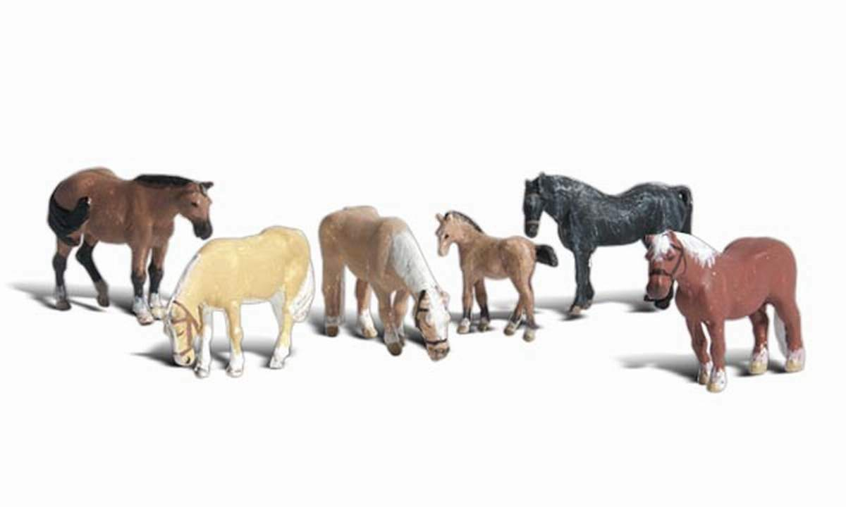 Woodland Scenics Farm Horses N Scale Figures