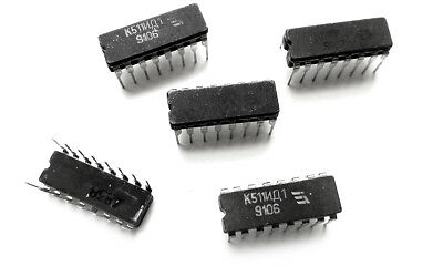 K511id1 5111 H158 Bcd To Decimal Decoder Nixie Driver Cdip 5 Pieces