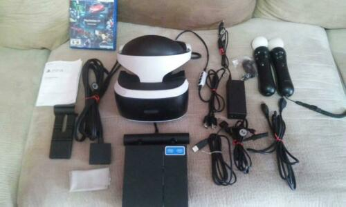 Sony PlayStation VR Ps4 Headset and move controllers cammera tested and working
