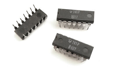 741 Lm148 Lm248 Lm348 Njm4741d Quad Op. Amp. 741 Ic - Nos 5 Pieces