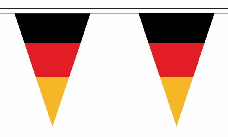 Germany Federal Triangular Flag Bunting - 20m Long - 54 Flags