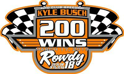 NEW FOR 2019 Kyle Busch 200 Wins Racing Sticker Decal - SM thru XL - var colors - Kyle Busch Racing