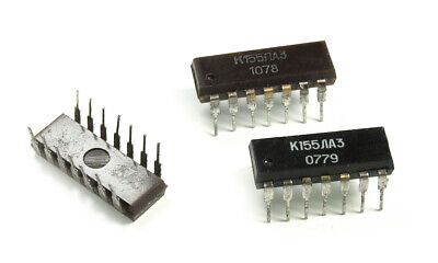 CDIP14 CERAMIC USSR NOS SN 7400 J IC KM155LA3 = SN7400J Lot of 10 pcs