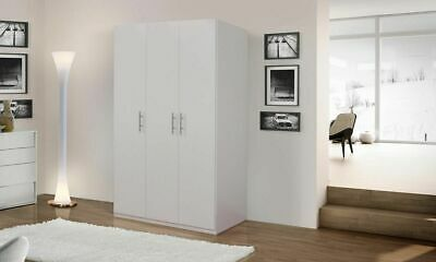 Armadio guardaroba moderno per camera da letto cameretta 3 ante battenti bianco