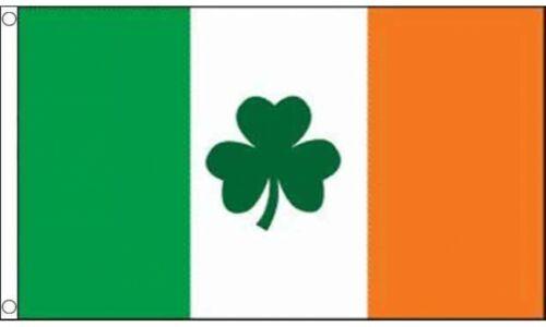 Irish Shamrock Flag 5ft x 3ft Eire Republic of Ireland St Patricks Day Flags