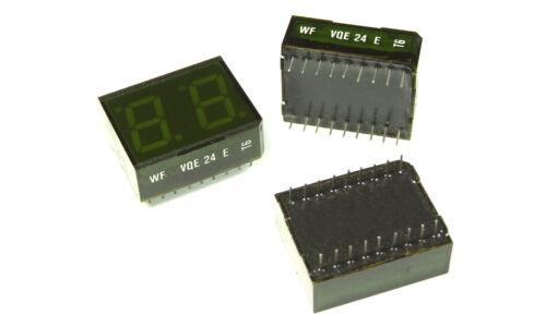 VQE24 E Green 7-Segment LED Display -- Common Anode -- NOS (1 pcs)