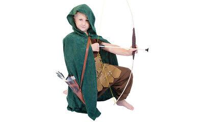 Bogenschütze Waldläufer Kostüm Umhang Pfeil und Bogen Kinderkostüm Robin - Kind Robin Hood Kostüm
