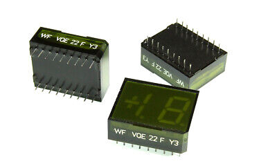 Vqe22 F Green 7-segment Led Display -- Common Anode 1 Pcs