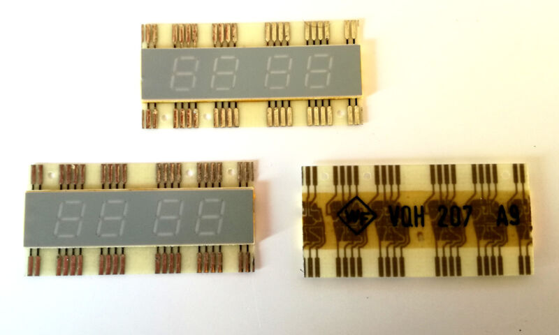VQH207 RFT 7-segment LED Display Common Anode -- Rare (1 pcs)