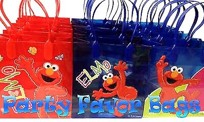 12PC SESAME STREET ELMO GOODIE BAGS PARTY FAVOR GIFT BAGS-PARTY BAGS-Brand new!