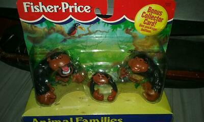 VINTAGE FISHER PRICE ANIMAL FAMILIES GORILLA FAMILY GORILLAS NEW 1995