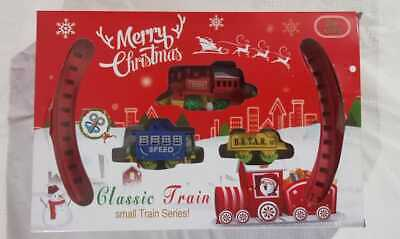 Classic Christmas Train Toy Set With Sound Light Smoke For Children Xmas Gift Sm