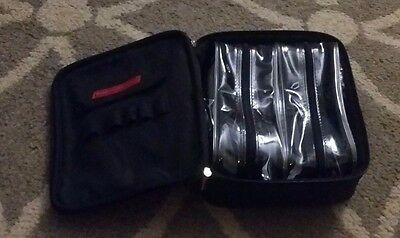 "Bare Escentuals ""BLACK COSMETIC / MAKEUP BAG"" -3 Pieces-BLACK-Perfect Size-NEW"