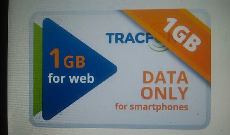TracFone Data Card   1 GB Data Internet Service Sent thru EBay Messaging.