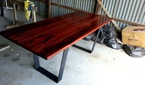 Recycled Red Gum Dining Table Custom made 2000x850mm Echuca Campaspe Area Preview