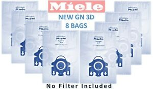 8 BAG OF GENUINE MIELE GN HYCLEAN VACUUM HOOVER CLEANER DUST BAGS NO FILTERS