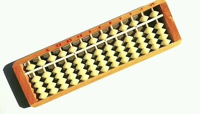 New wooden frame bead arithmetic abacus, soroban, 13 rods