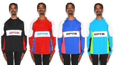 New EPTM. Men's Motocross Graphic Color Block Long Sleeve  Tee T-Shirt -